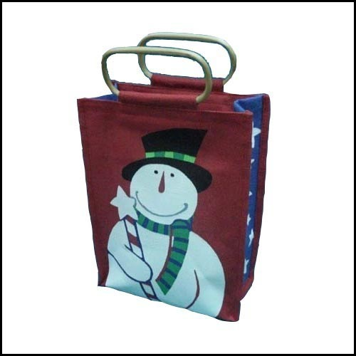 Jute Shopping bag with Cane Handle