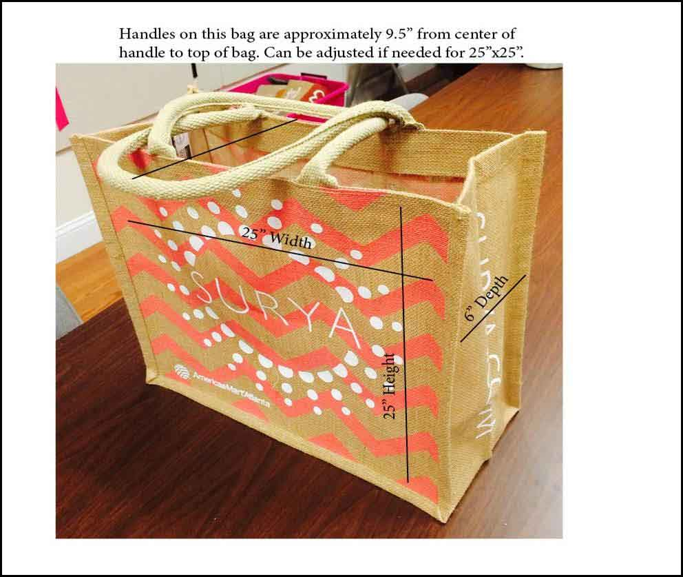 Jute shopping bag with cord handle